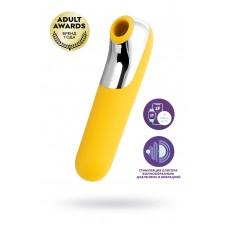 Вакуум-волновой бесконтактный стимулятор клитора Satisfyer Dual Love, силикон, жёлтый, 16 см.