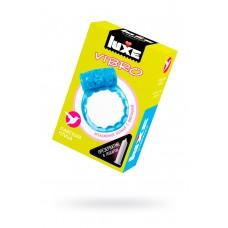 Виброкольцо LUXE VIBRO Райская птица + презерватив, 1 шт, 18 см