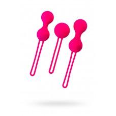 Вагинальные шарики A-Toys by TOYFA Redvil, силикон, розовые, 16,5 см