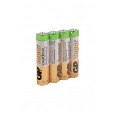 Алкалиновые батарейки GP Super Alkaline 24А ААA - 4 шт. в пленке