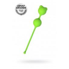 Вагинальные шарики A-Toys by TOYFA Meeko, силикон, зеленый, 16,4 см, Ø 2,7 см
