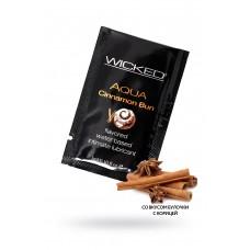 Лубрикант WICKED AQUA Cinnamon Bun, со вкусом булочки с корицей, 3 мл